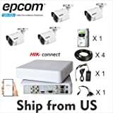 Kit 2MP Epcom Movil-Vision 4 Channel DVR,4 Bullet Cam,1TB HDD