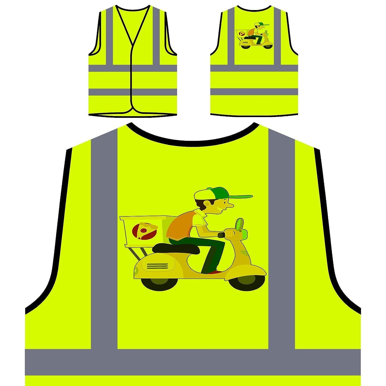 Repartidor De Pizza Feliz Chaqueta de seguridad amarillo personalizado de alta visibilidad p675v INNOGLEN