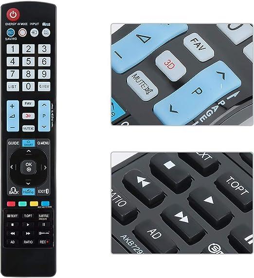 AKB749154309 Mando a Distancia el LG TV reemplaza el Control ...