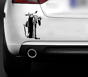 Starwars Yoda Pegatina de vinilo de maestro Jedi para coche, barco o ventana.: Amazon.es: Coche y moto