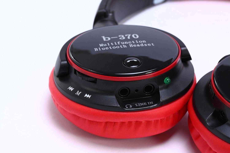 plxgthe Nueva tarjeta de B370/FM Auriculares Soporte auricular bluetooth auricular bluetooth puede llamar Headset (Rojo): Amazon.es: Electrónica