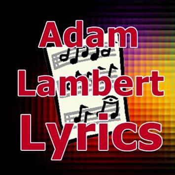 Amazon.com: Lyrics for Adam Lambert: Appstore for Android