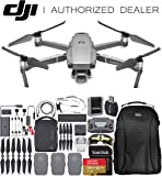 "DJI Mavic 2 Pro Drone Quadcopter with Hasselblad Camera Adjustable Aperture 20MP 1"" CMOS Sensor and SanDisk Extreme 128GB MicroSDXC UHS-I Card (with Fly More Combo Kit)"