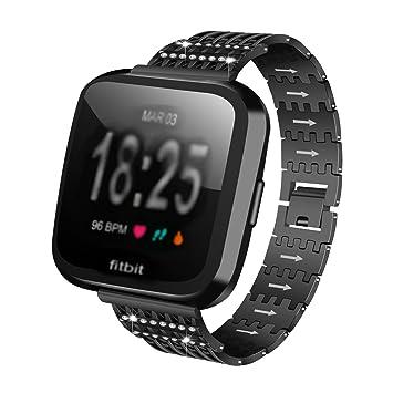 Para Fitbit Versa Links para 2018 Fitbit de metal pulsera de ...