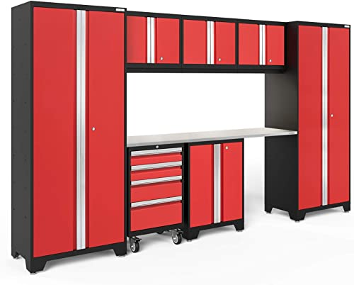 NewAge Products Bold 3.0 Red 8 Piece Set, Garage Cabinets, 50626