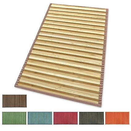 ARREDIAMOINSIEME-nelweb Tappeto Bamboo Legno Stuoia Cucina Bagno Camera  Degradè Varie Misure Passatoia bambù Retro Antiscivolo MOD.Bamboo 50X180  Blu ...