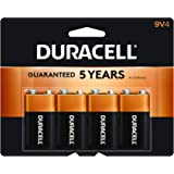 Duracell - CopperTop 9V Alkaline Batteries - long lasting, all-purpose 9 Volt battery for household and business - 4…
