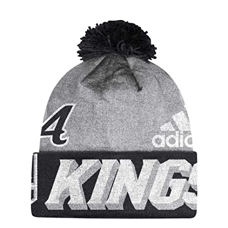 105378beda6 Image Unavailable. Image not available for. Color  adidas Los Angeles Kings  NHL Cuffed Pom Knit Hat