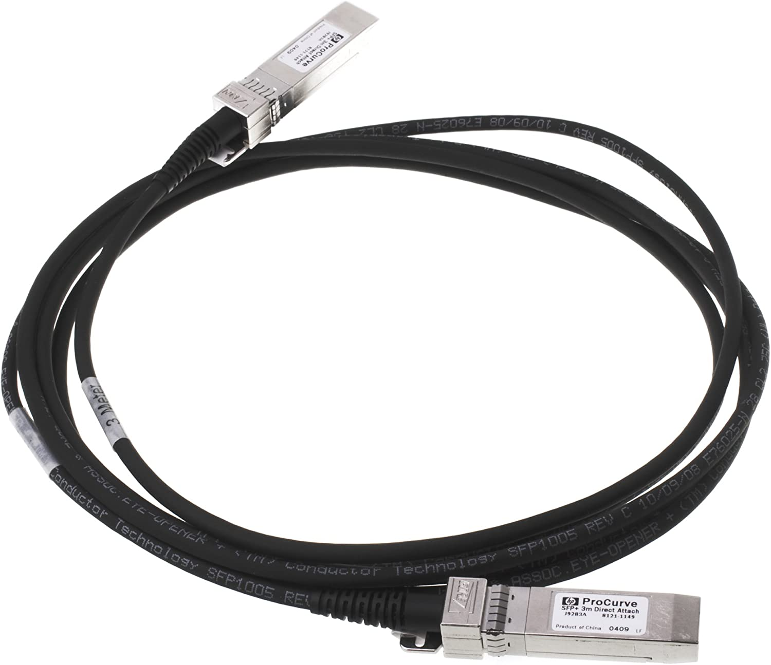 HP X242 10G SFP+ to SFP+ 3m Direct Attach Copper Cable (J9283B)