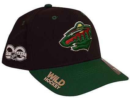 quality design 45f55 e37a7 ... ireland adidas minnesota wild 100th year structured flex hat small  medium b55cc 9b787
