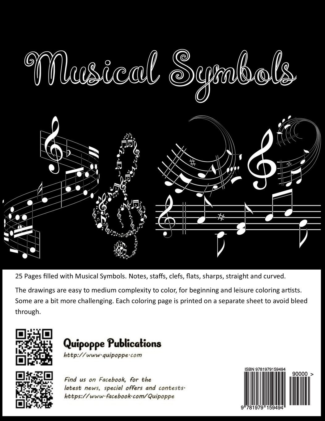 Amazon Musical Symbols Music Lovers Coloring Book For Fun