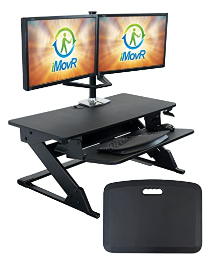 Amazon Com Imovr Ziplift Standing Desk Converter With Ergonomic