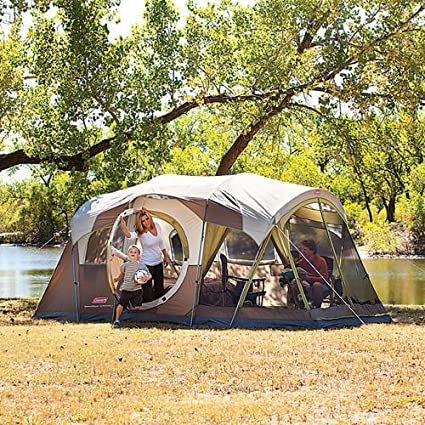 2efb0844a36 Image Unavailable. Image not available for. Color: Coleman WeatherMaster 10  Person 3 Room Tent ...