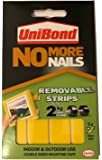 Unibond No More Nails Removable Adhesive Strips Holds Up To 2KG Per Strip (pack of 5 strips)