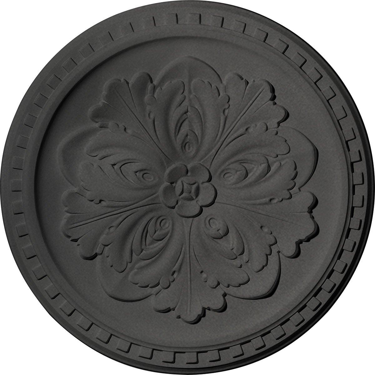 Ekena Millwork CM16ERSGS Emeryville Ceiling Medallion, Steel Gray