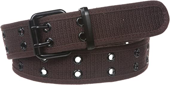 Available in 8 Colors Kids Canvas Two-Hole Belt
