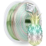 AMOLEN PLA 3D Printer Filament, 1.75mm, Silk Multicolor Rainbow 1 kg Spool