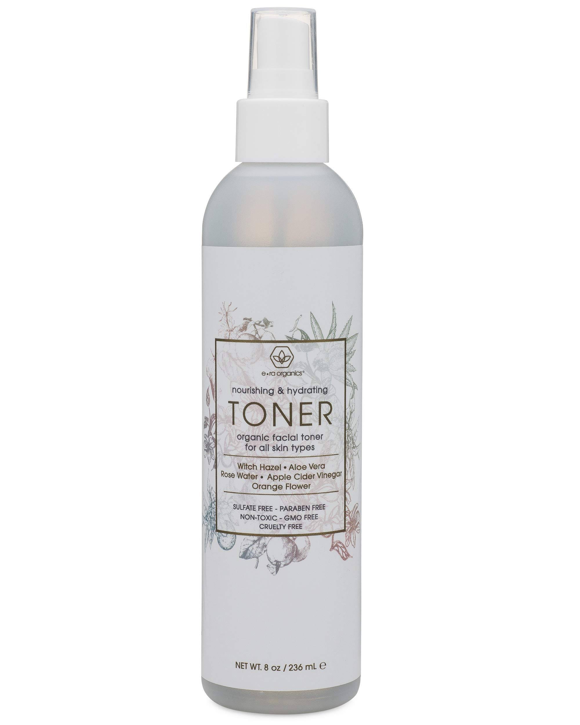 Facial Toner & Organic Face Mist - Extra Nourishing & Hydrating Natural Facial Mist with Witch Hazel, Apple Cider Vinegar, Rose Water for Dry, Oily, Acne Prone Skin. Balance pH, Nourish & Moisturize