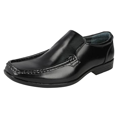 Hush Puppies Mens Coach II Lace-Up Slip On Leather Formal Shoes
