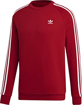 adidas 3-Stripes Crew - Sudadera, Hombre, Power Red, XL: Amazon.es: Deportes y aire libre