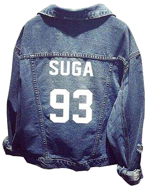 Formesy Unisex BTS Felpa con Cappuccio BTS Giacca di Jeans Suga Jin Jimin Jung Kook J-Hope Rap-Mostro V
