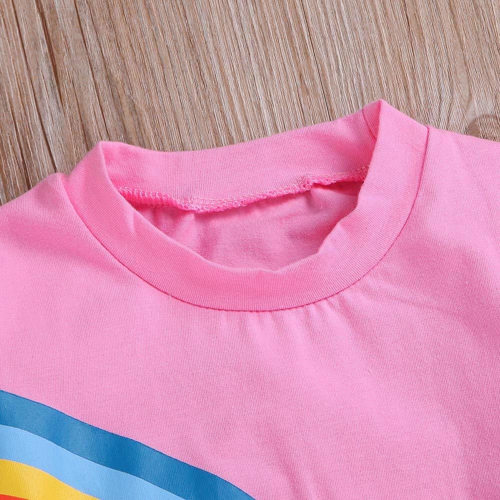 XGao Infant Baby Girls Boys Cotton Crewneck Cute Rainbow Sweatshirts Long Sleeve Sweater Top