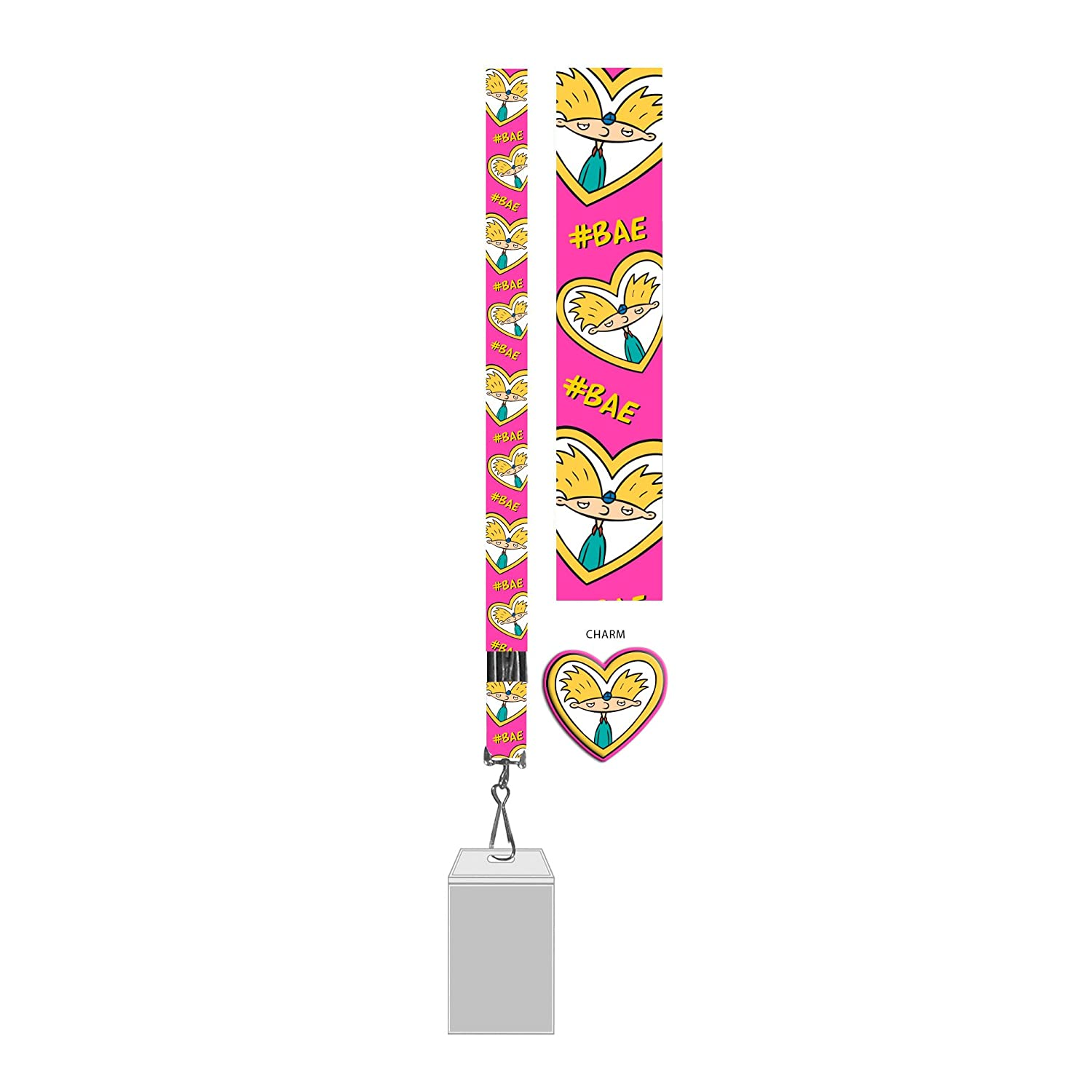 amazon com silver buffalo ni11045b hey arnold bae lanyard with