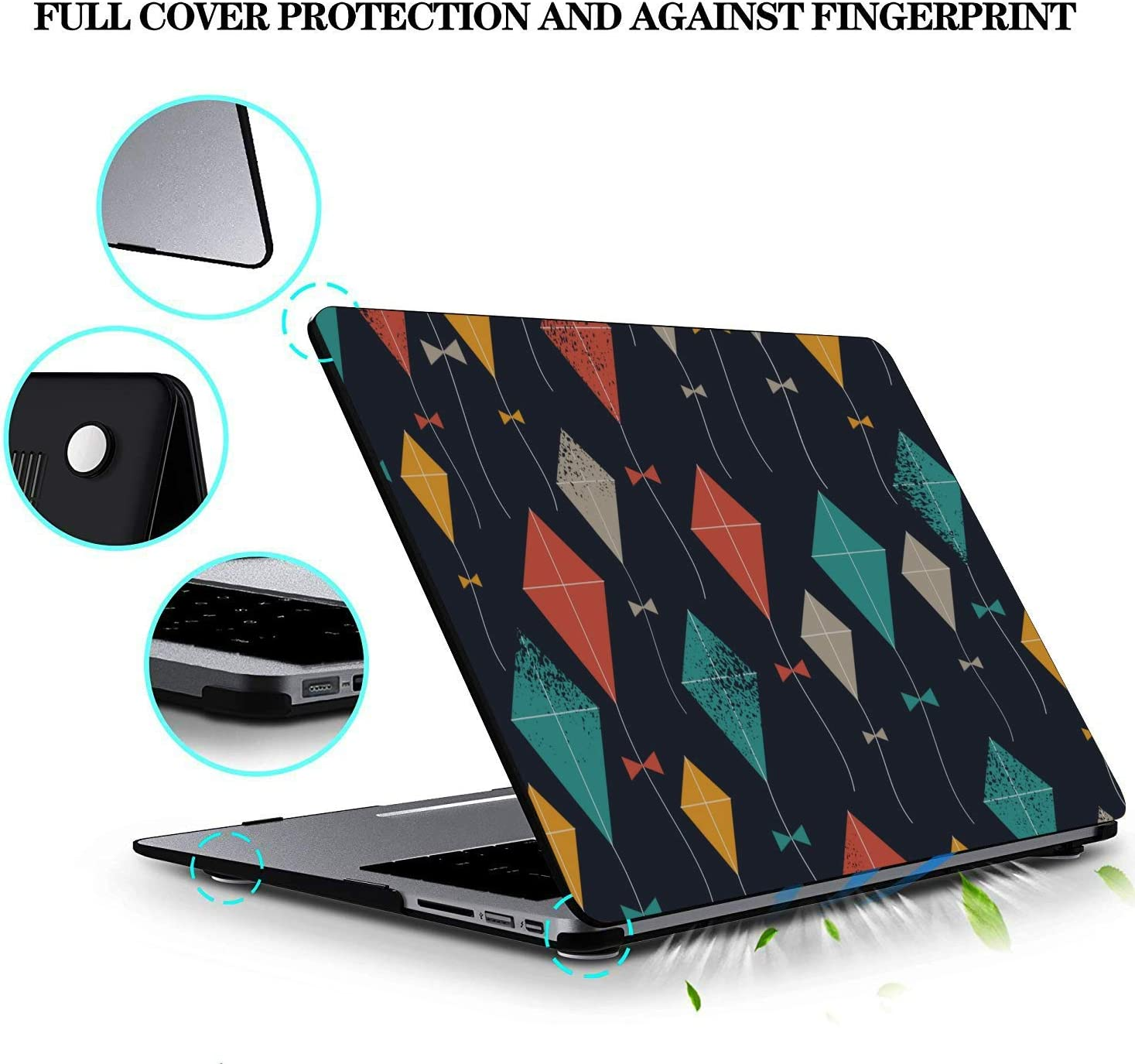 13 Inch MacBook Case Spring Children Play Game Toy Kite Plastic Hard Shell Compatible Mac Air 11 Pro 13 15 Mac Book Pro Cover Protection for MacBook 2016-2019 Version