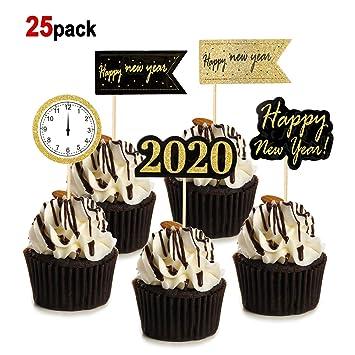 HOWAF 25 Piezas Nochevieja 2020 decoración Feliz año Nuevo ...