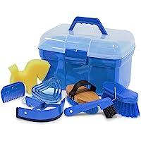 Caja con accesorios de limpieza para caballos, color: