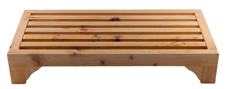 Alfiブランドab4409木製ステッピングBathroom Stool、 AB4409 1 B01MS527NDナチュラルウッド