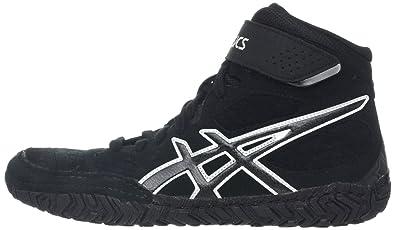 Zapato de lucha Aggressor 2 para hombres, Negro / Onyx / Plateado, 8 M US