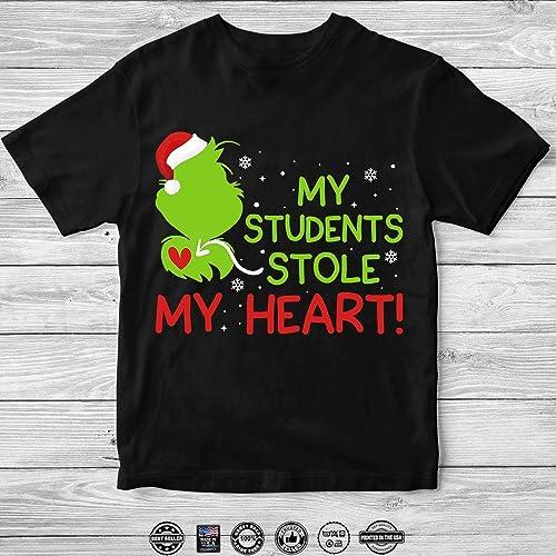 Amazoncom Grinch Teacher My Student Stole Heart Christmas Santa