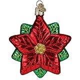 Old World Christmas Poinsettia Star Glass Blown Ornament