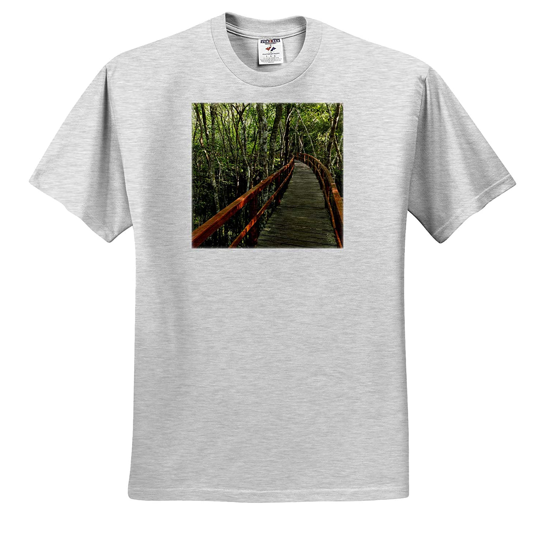 3dRose Danita Delimont Brazil Brazil A Wooden Walkway Above The  River Adult T-Shirt XL ts/_314317 Manaus