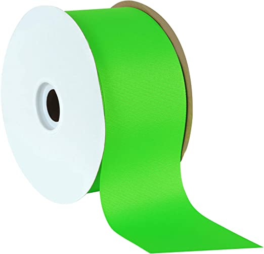 """Lime Grosgrain Ribbon ~Offray~ 10 yards ~3 inches~ New ~High Quality~ 3/"""" inch"""