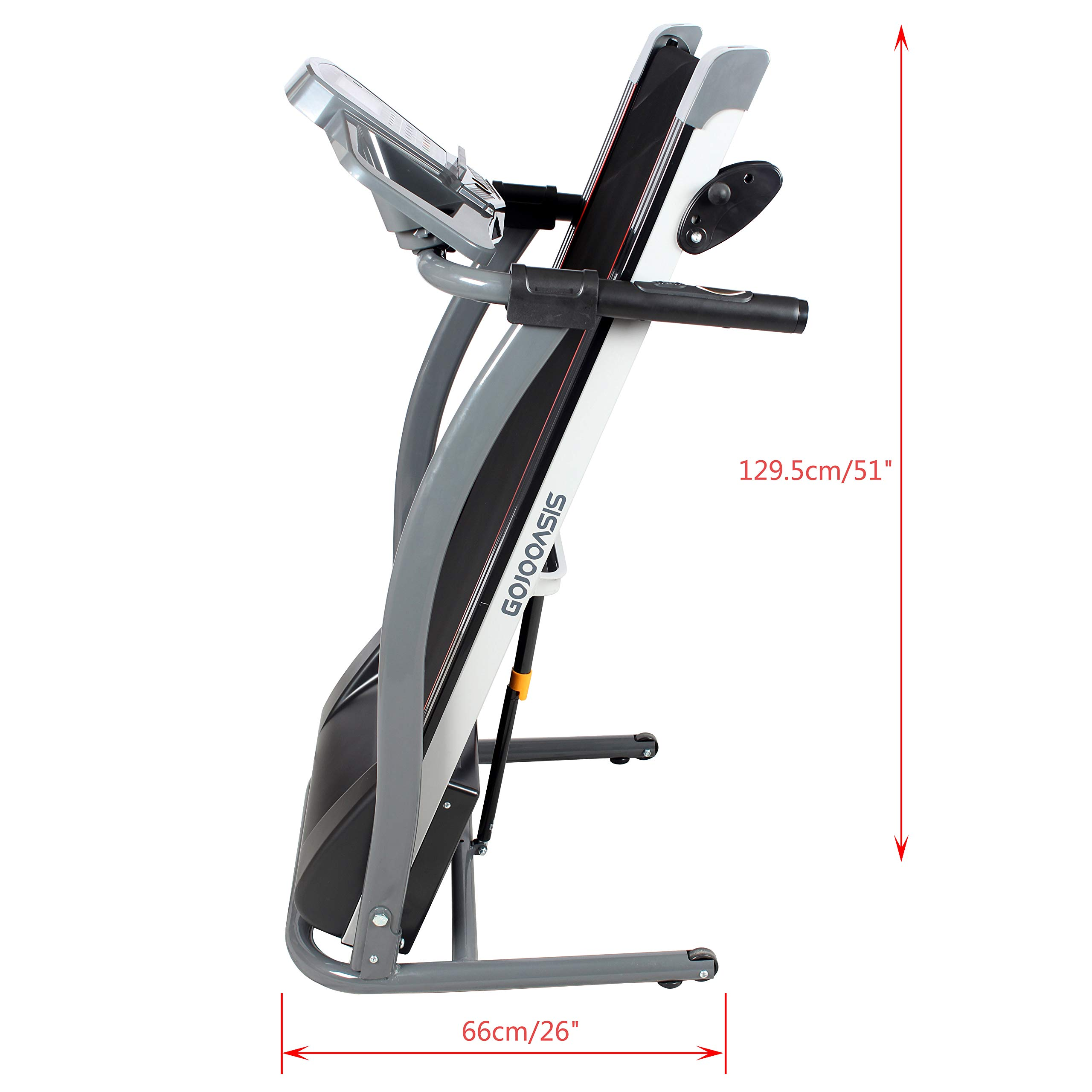 GOJOOASIS 2.0HP Treadmill Folding Motorized Running Exercise Machine w/Incline by GOJOOASIS (Image #5)