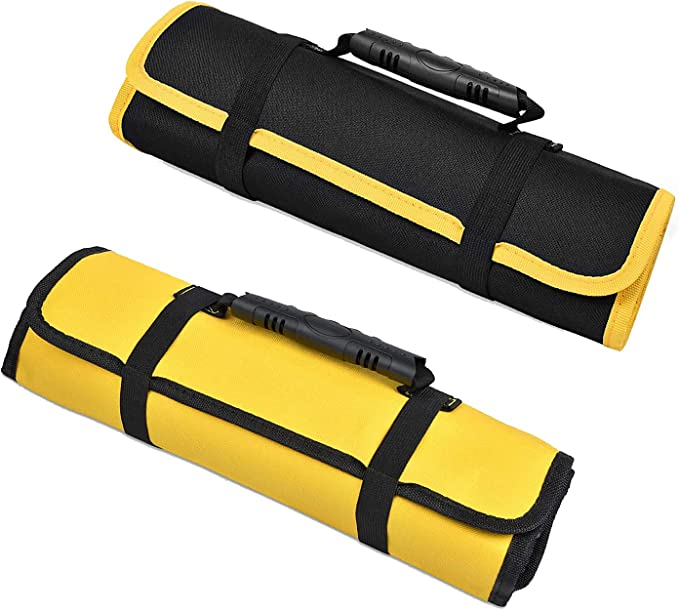 Details about  /Practical Multi-Purpose Tool Roll Up Canvas Storage Bag Wrench Roll Pouch Hangin