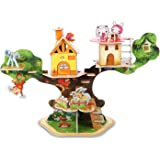 3D Puzzle Handmade Assemble toys for kids Animal Tree House