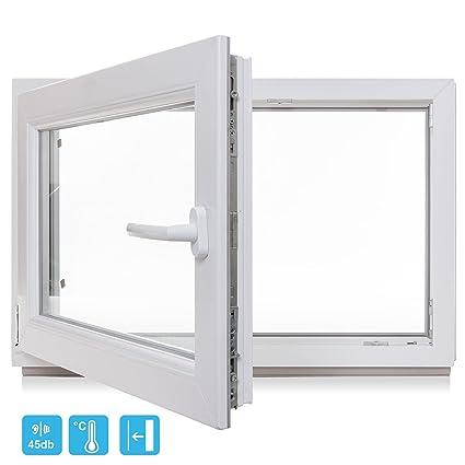 Top Kellerfenster - Kunststoff - Fenster - weiß - BxH 800x800 / 80x80 RS41