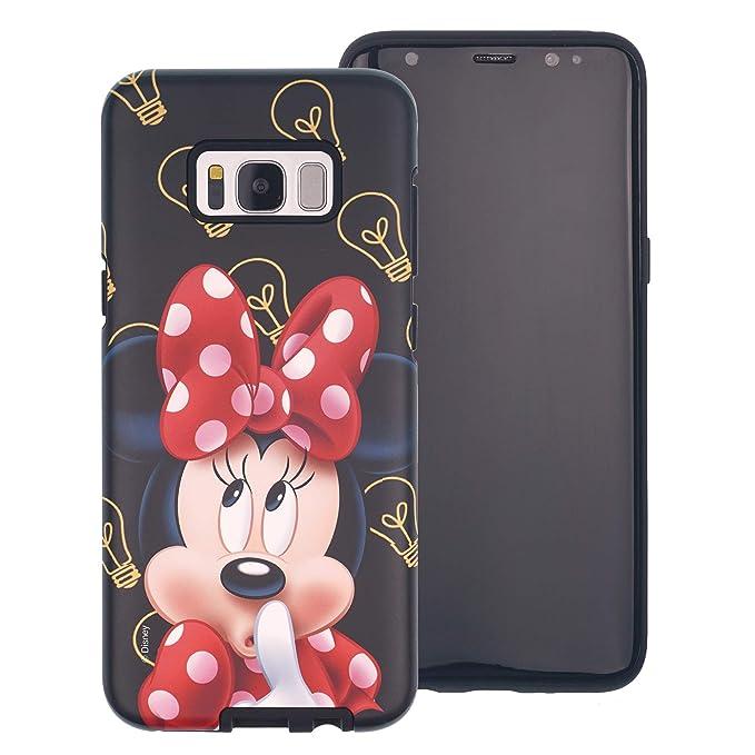 pretty nice 352e5 5e1fa Galaxy S8 Plus Case, Disney Cute Minnie Mouse Layered Hybrid [TPU + PC]  Bumper Cover [Shock Absorption] for Samsung Galaxy S8 Plus - Idea Minnie  Mouse
