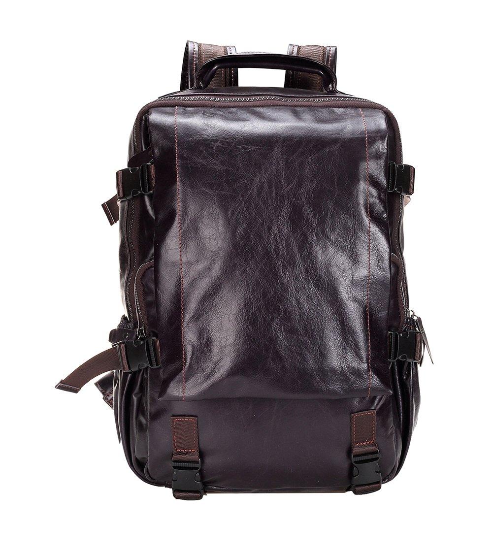 Genda 2Archer Men's Leather Backpack Large School Bag Travel Rucksack