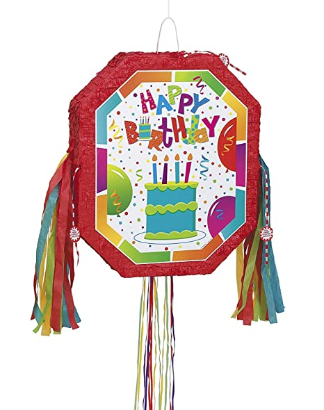 Amazon.com: Cumpleaños Jamboree Pinata, Pull String: Kitchen ...