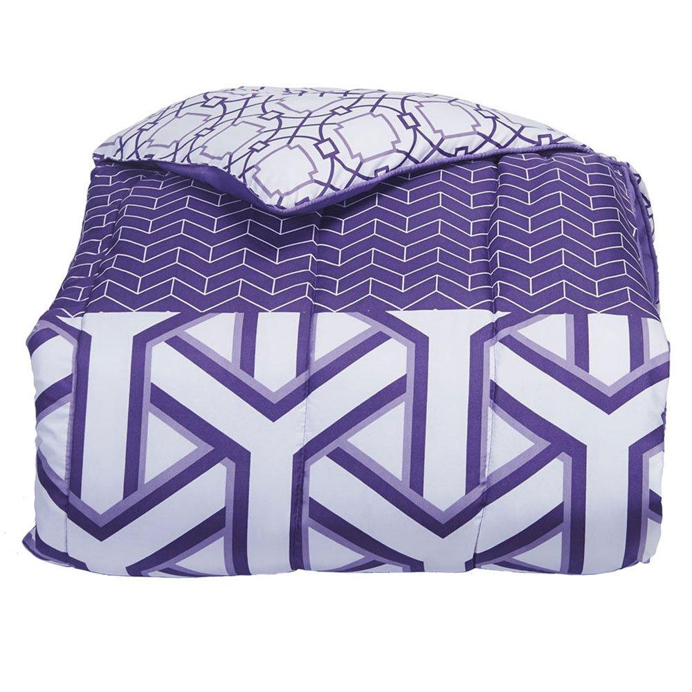 Campus Linens Grape Melange Twin XL Comforter for College Dorm Bedding