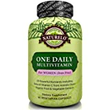 NATURELO One Daily Multivitamin for Women - IRON FREE – Natural Menopause Support - Best for Women Over 40 - Whole Food Supplement - Non-GMO - No Soy - 60 Capsules   2 Month Supply