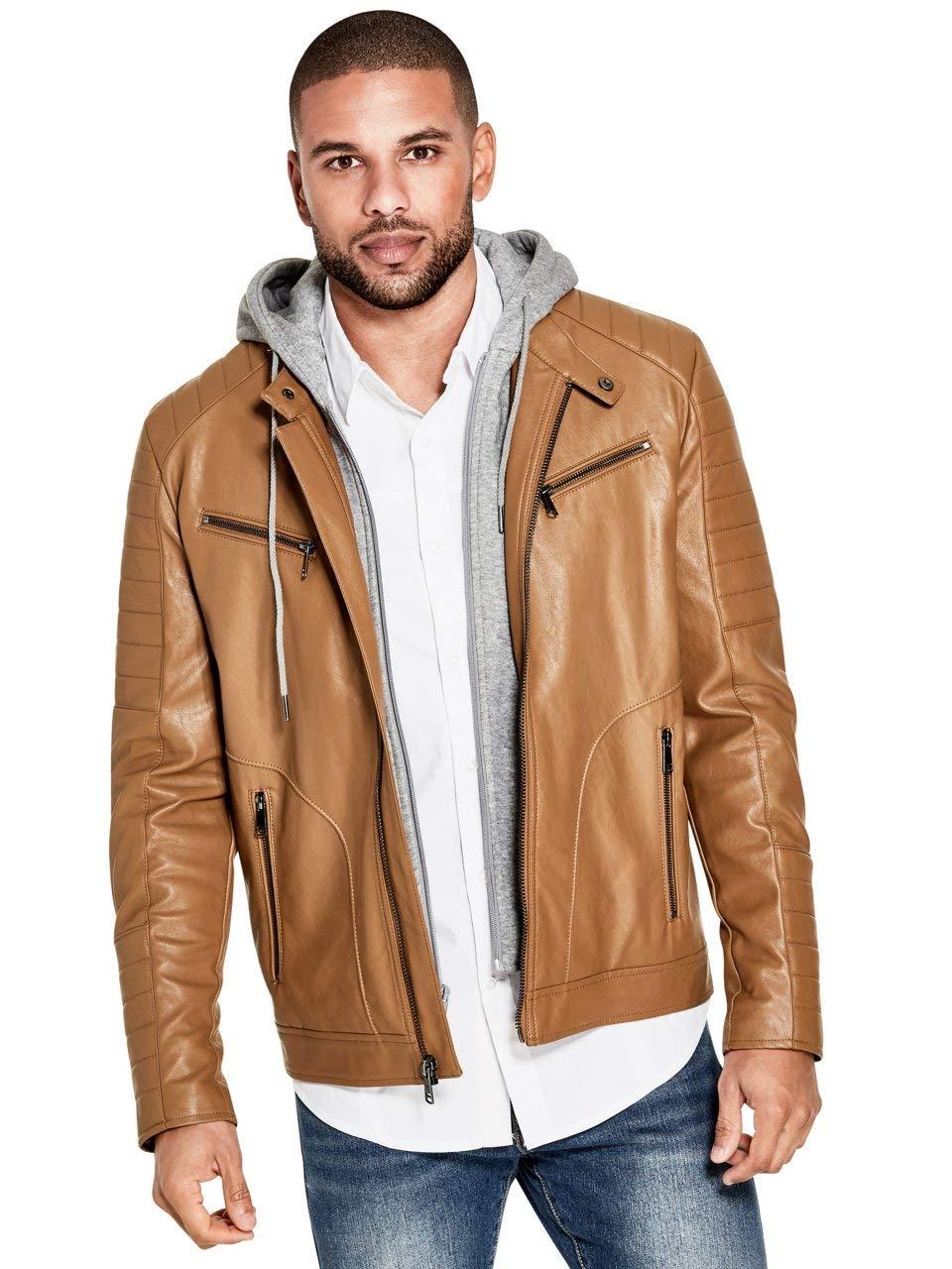GUESS Factory Men's Kenzo Hooded Moto Jacket