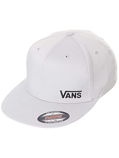 7d25d5f0 Vans Frost Grey Splitz Fitted Flexfit Cap (S/M, Grey): Amazon.co.uk:  Clothing
