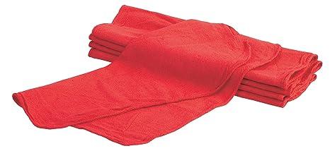 Carrand 40048 rojo tienda Detailing Toallas, 25 unidades