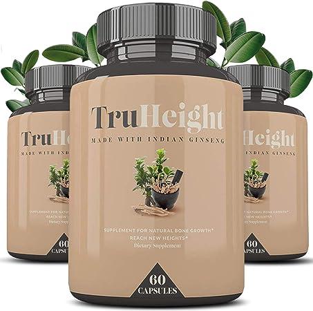 Height Growth Formula - Grow Taller Supplement - Supplement for Natural Bone Growth - Height Pill - Keto & Vegan with Indian Ginseng