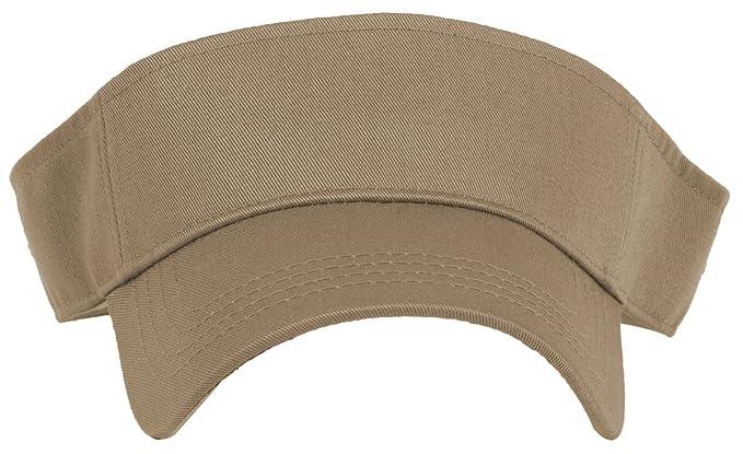 76a76c403d5 DRY77 Sports Tennis Golf Sun Visor Hats Adjustable Plain Bright Color Men  Women (Beige)